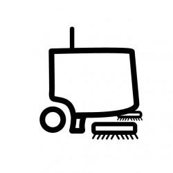 Poulie mobile avec roulement T6400 POUR AUTOLAVEUSE TENNANT